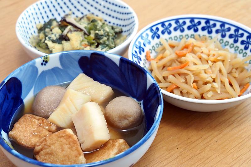 青森県産 いかと里芋と厚揚げの炊き合わせ