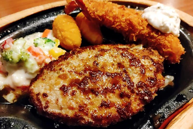 エビフライ&ハンバーグステーキ