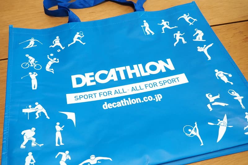 デカトロンのショッピングバッグ