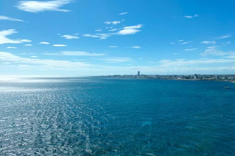 明石方面の海の景色