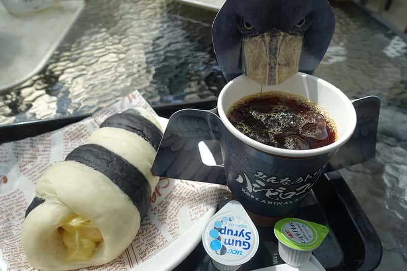 ハシビロコーヒーとワオワオロール