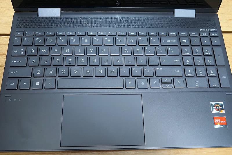 HP ENVY x360 15 AMDのキーボード