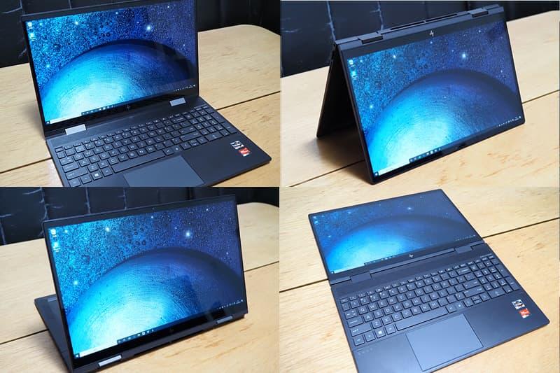 HP ENVY x360 15 AMDのタブレットモード