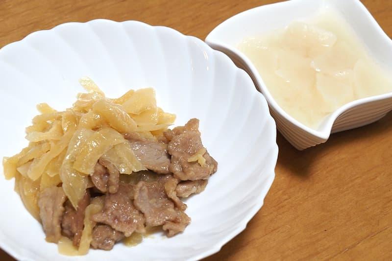 豚肉の生姜焼き 和風大根煮