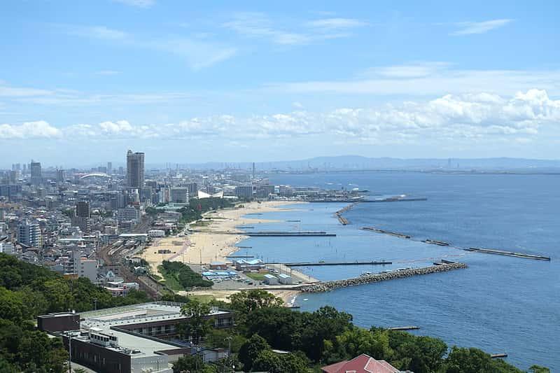神戸方面の景色
