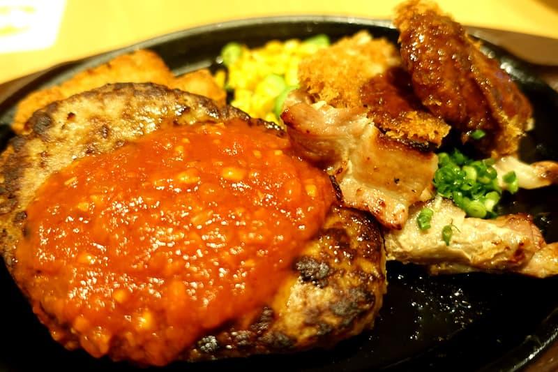 肉盛りワイルドプレートガーリックソース