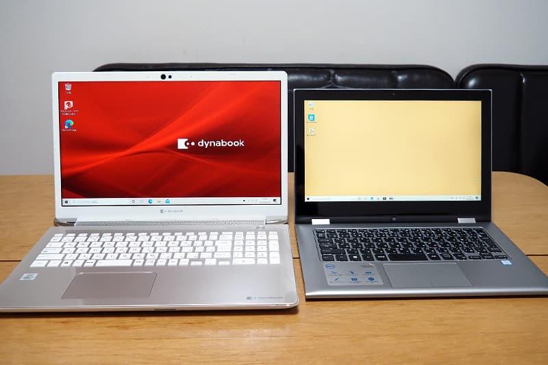dynabook AZ66と13.3型比較