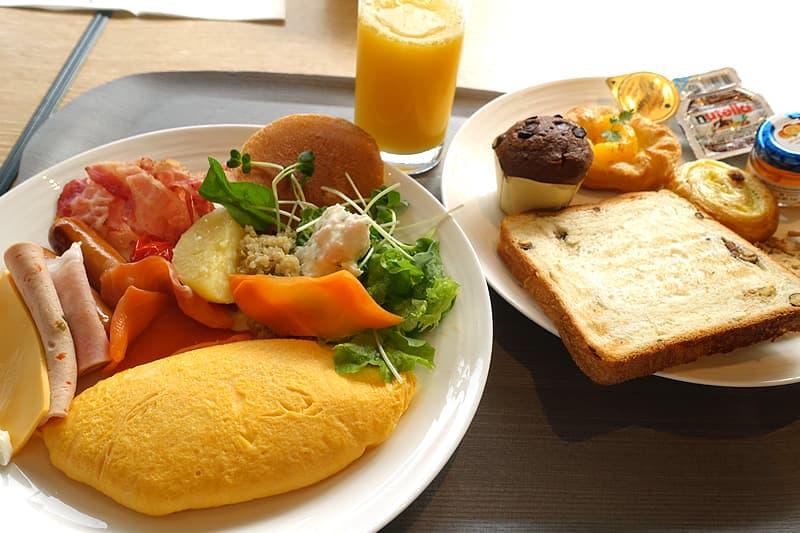 ヒルトン大阪の朝食ブッフェ