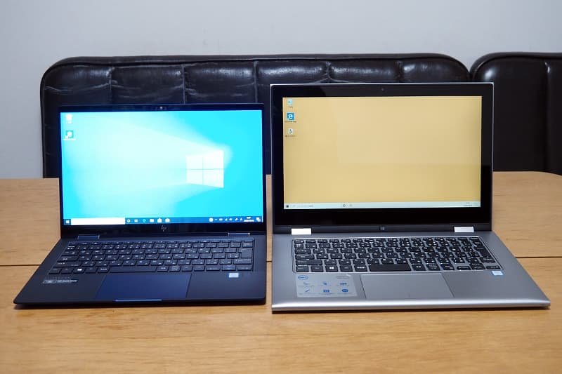 HP Elite Dragonflyと13.3インチのノートパソコン