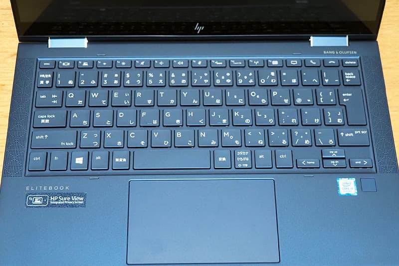 HP Elite Dragonflyのキーボード