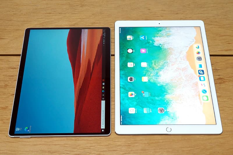 Surface Pro XとiPad Pro