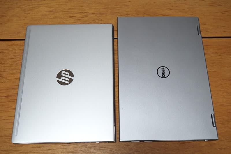HP ProBook 430 G7と13.3インチのノートパソコン