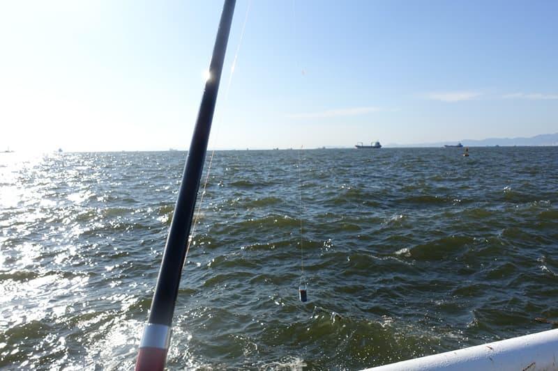 南港海釣り公園で釣り