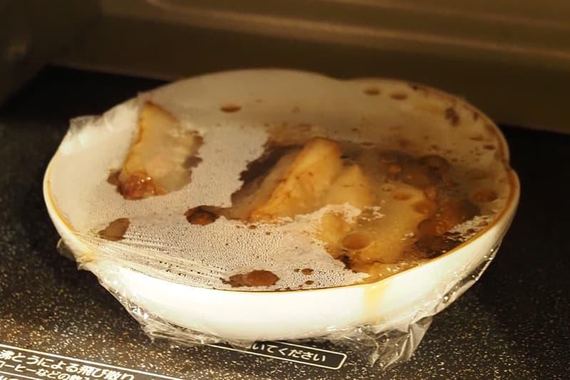 やわらか煮豚を電子レンジで加熱