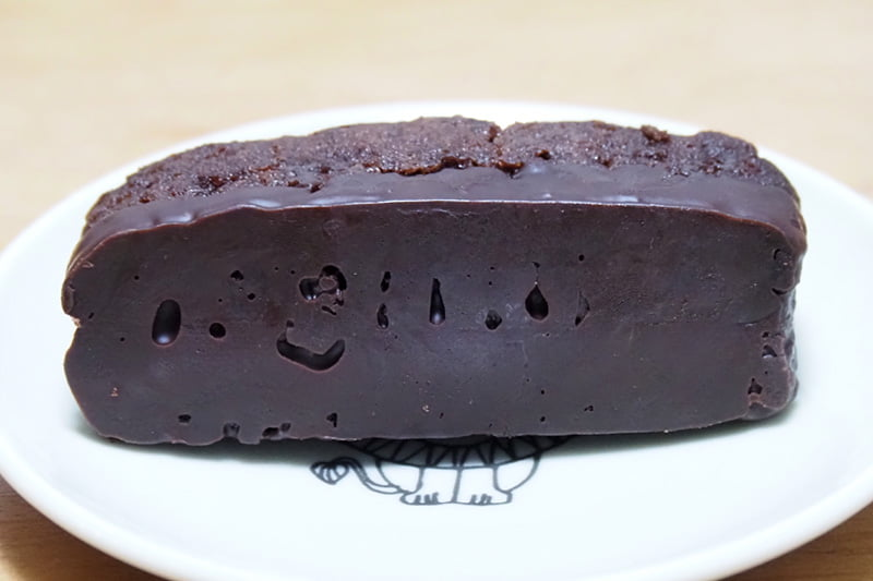 ダブルチョコケーキのチョコレート