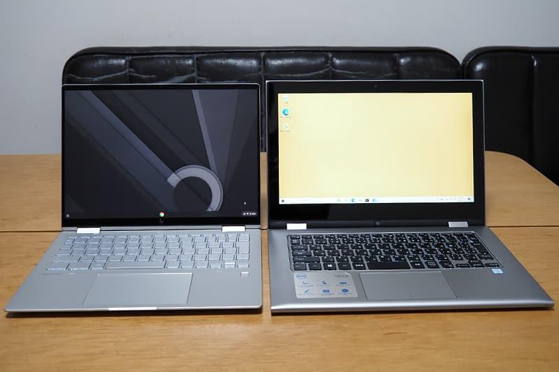 13.3インチのノートパソコンとChromebook x360 13c