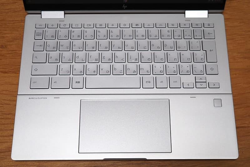 HP Chromebook x360 13cのキーボード