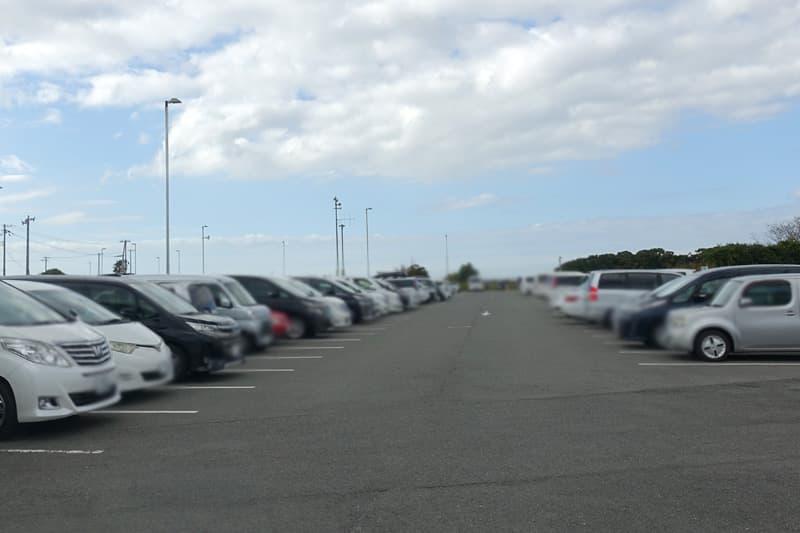 海とのふれあい広場の専用駐車場