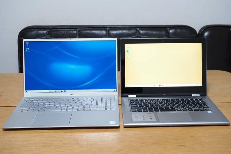 13.3インチのノートパソコンとDell New Inspiron 15 5000(5502)を比較