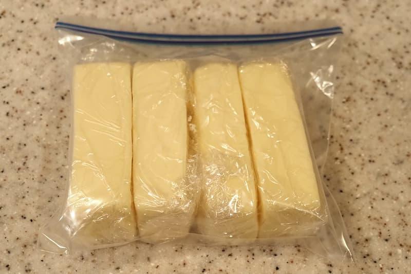 リッチチーズケーキを保存