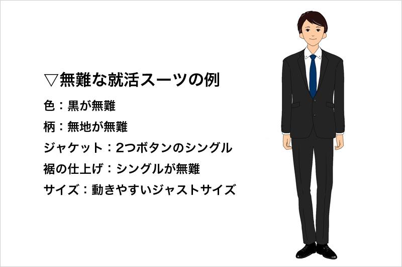 無難な就活スーツの例
