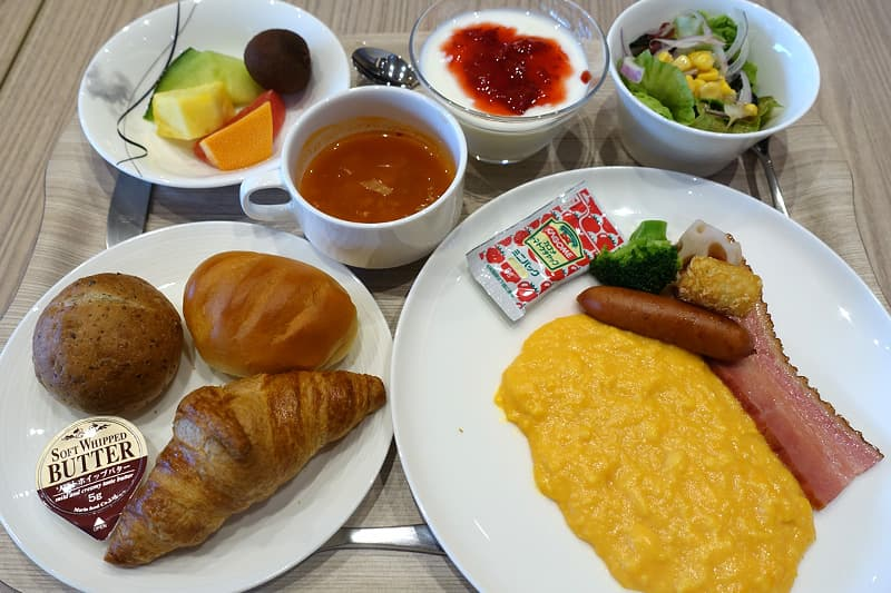 洋定食の朝食メニュー