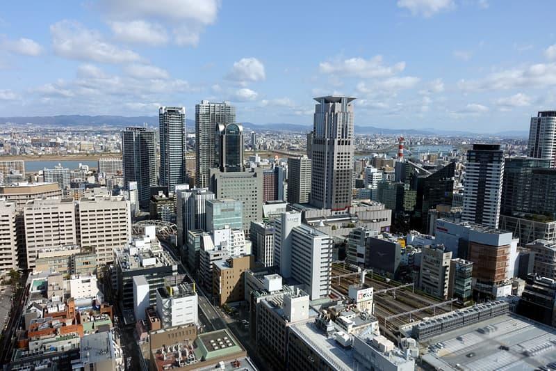 ホテル阪急レスパイア大阪からの景色