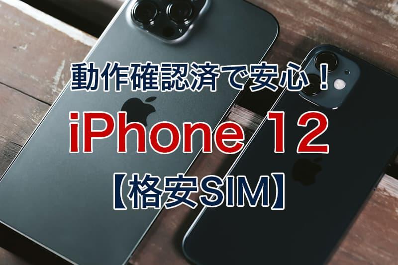 動作確認済で安心 iPhone 12 格安SIM