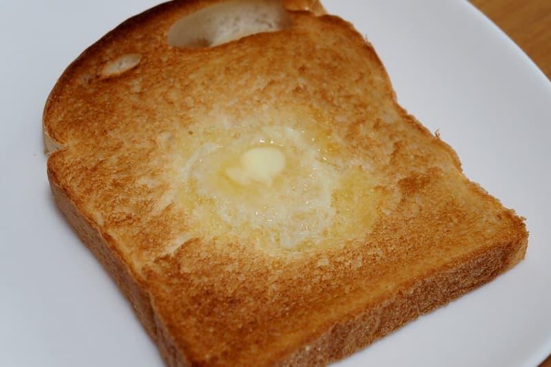イギリス食パンをトースト