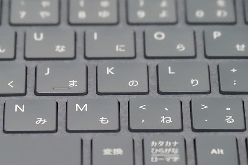 Surface Laptop 4のキーストローク