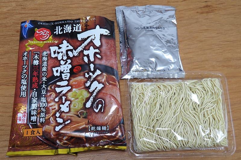 乾燥麺とスープの素