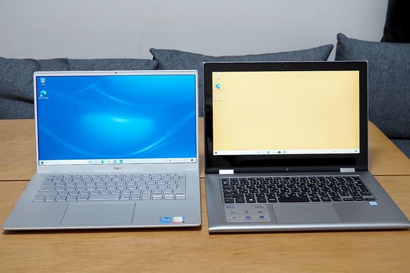 13.3インチのノートパソコン(Dell Inspiron 13 7000)とDell New Inspiron 14 5000(5402)を比較