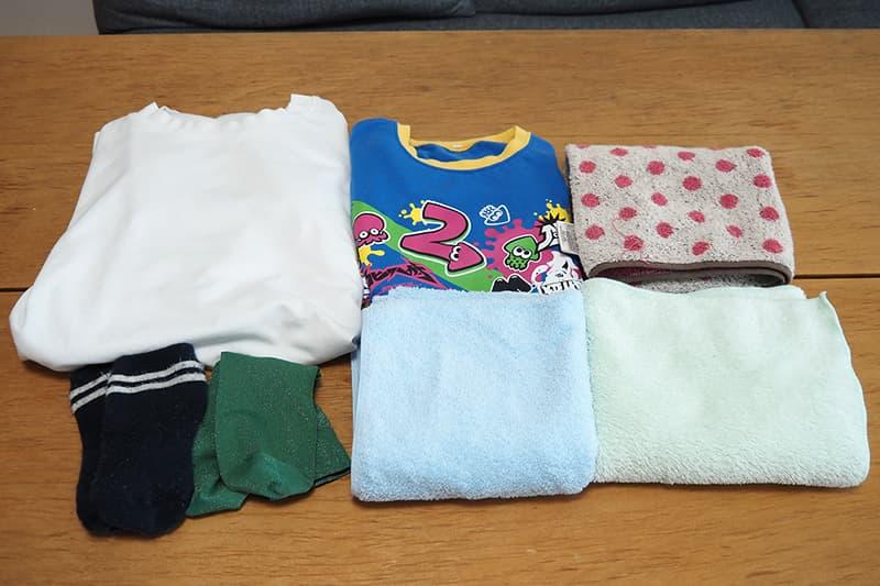 乾燥する衣類