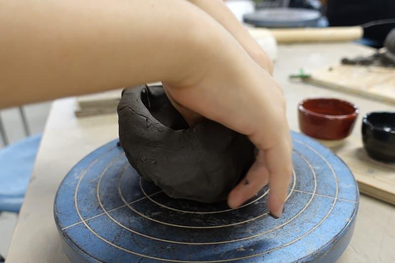 陶芸体験の粘土