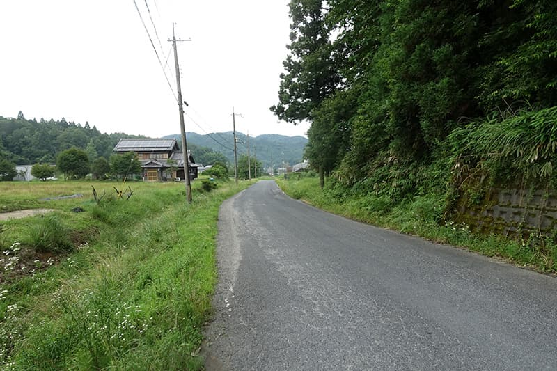 山田牧場への道