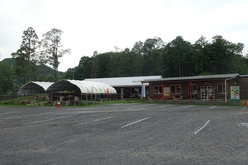 山田牧場の駐車場