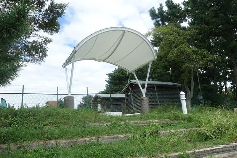 屋根付きのスペース