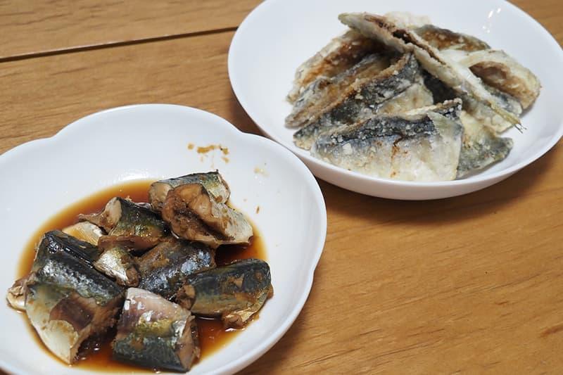 サバの味噌煮と唐揚げ