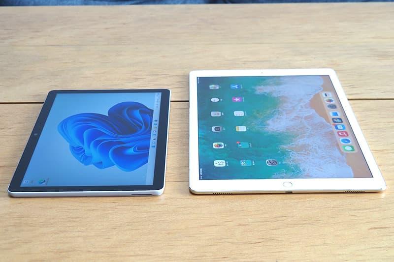 Surface Go 3とiPadを比較