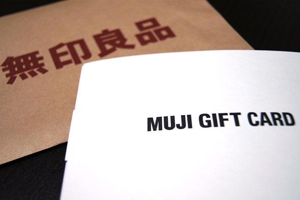MUJI GIFT CARD